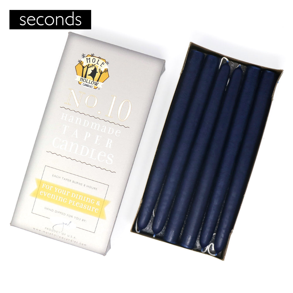 "10"" Seconds Unscented Taper Candles, Set of 12"