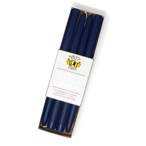 "12"" Dripless Taper Candles - Cobalt Blue Set of 4"