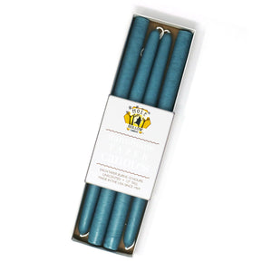 "Load image into Gallery viewer, 12"" Dripless Taper Candles - Colonial Blue Set of 4"
