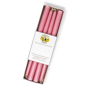 "12"" Dripless Taper Candles - Dusty Rose Set of 4"