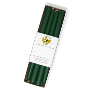 "12"" Dripless Taper Candles - Emerald Green Set of 4"