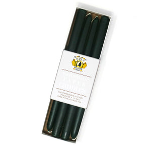 "12"" Dripless Taper Candles - Hunter Green Set of 4"