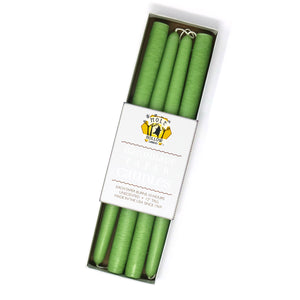 "12"" Dripless Taper Candles - Lime Green Set of 4"