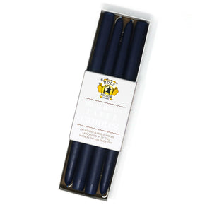 "Load image into Gallery viewer, 12"" Dripless Taper Candles - Navy Blue Set of 4"