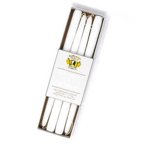 "Load image into Gallery viewer, 12"" Dripless Taper Candles - Stark White Set of 4"