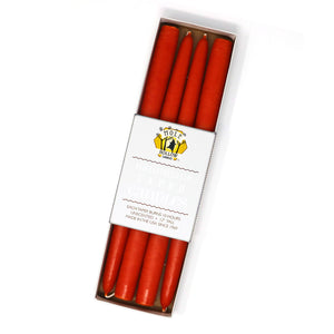 "12"" Dripless Taper Candles - Sunspot Orange Set of 4"