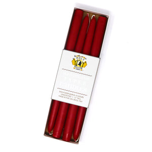 "Load image into Gallery viewer, 12"" Dripless Taper Candles - Sweetheart Red Set of 4"