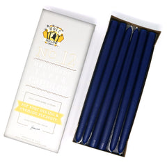 "12"" Dripless Taper Candles - Cobalt Blue Unscented - Mole Hollow Candles"