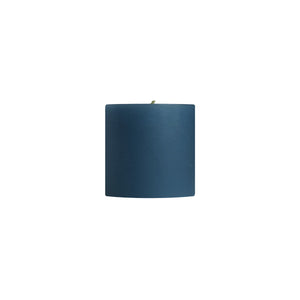 "3x3"" Colonial Blue Unscented Pillar Candle - Dripless Pillar Candles - Mole Hollow Candles"