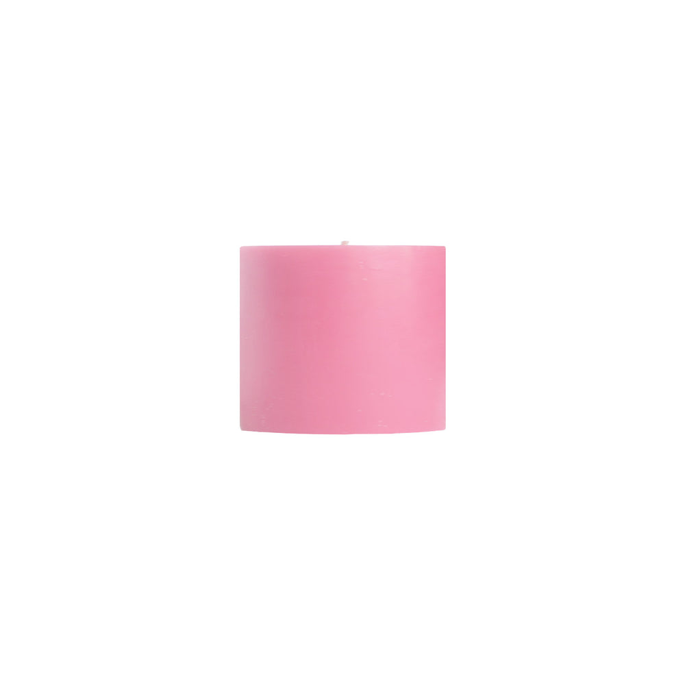 "Load image into Gallery viewer, 3x3"" Pink Unscented Pillar Candle - Dripless Pillar Candles - Mole Hollow Candles"