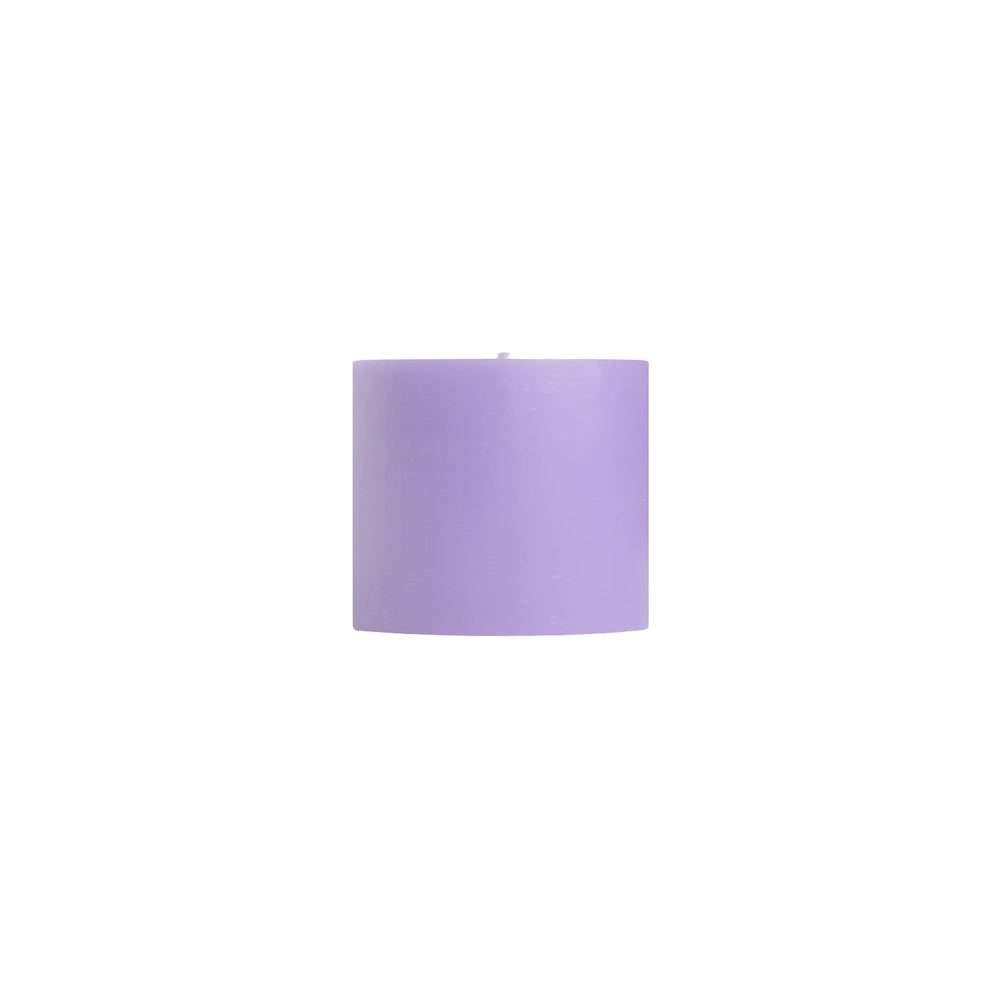 "Load image into Gallery viewer, 3x3"" Lavender Scented Pillar Candle - Dripless Pillar Candles - Mole Hollow Candles"