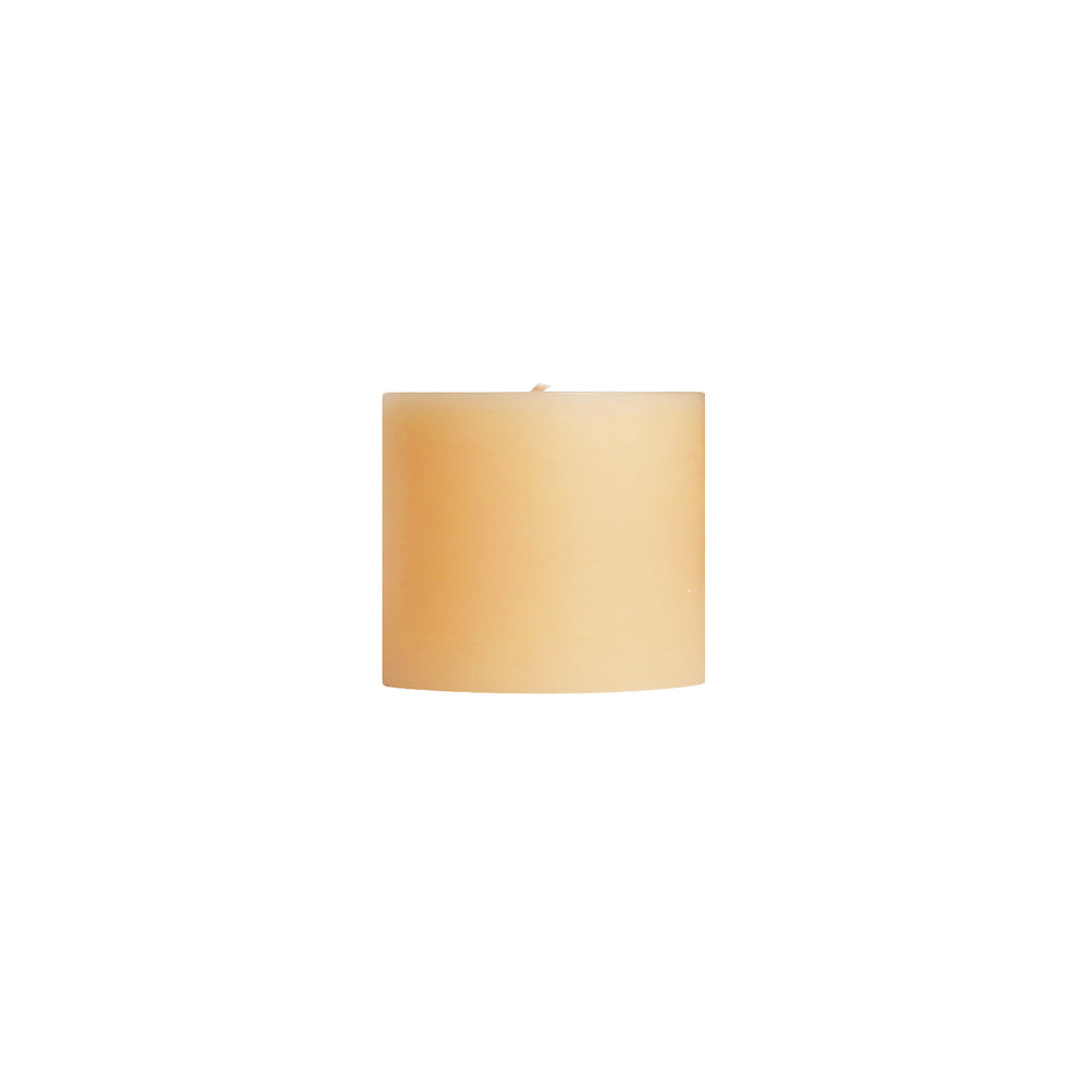 "3x3"" Sandalwood Scented Pillar Candle - Dripless Pillar Candles - Mole Hollow Candles"