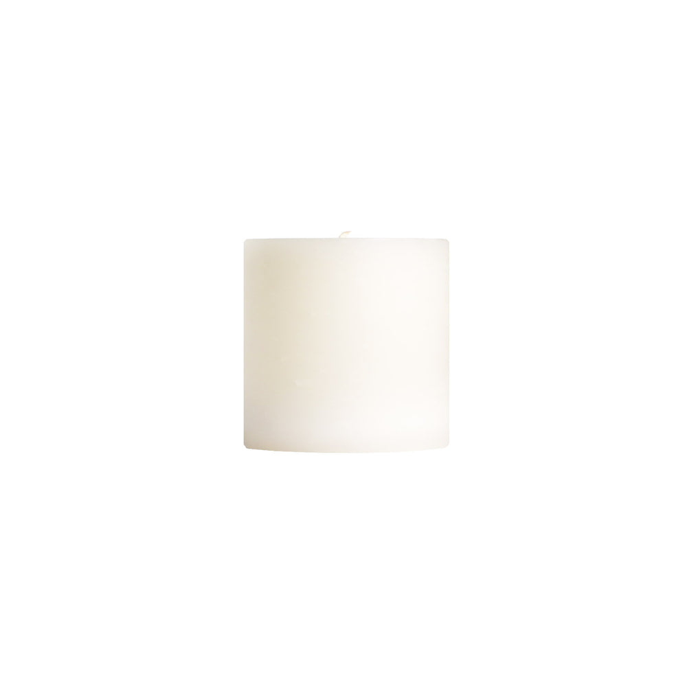 "Load image into Gallery viewer, 3x3"" Stark White Unscented Pillar Candle - Dripless Pillar Candles - Mole Hollow Candles"