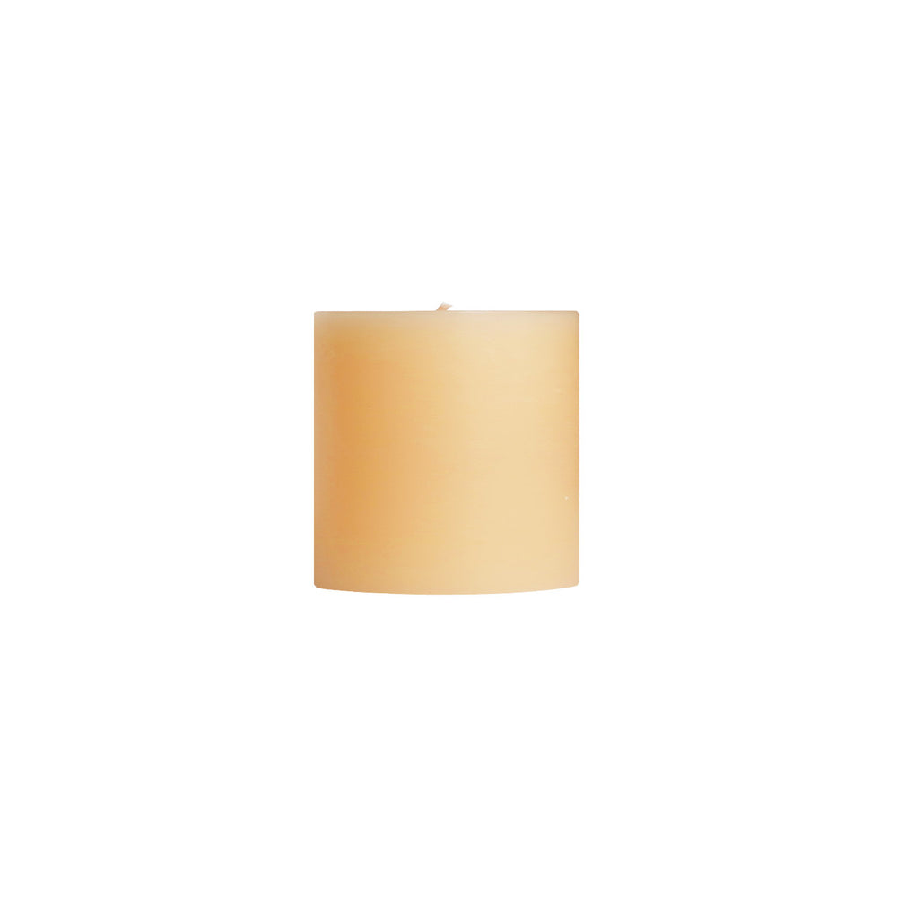 "3x3"" Ivory Unscented Pillar Candle - Dripless Pillar Candles - Mole Hollow Candles"