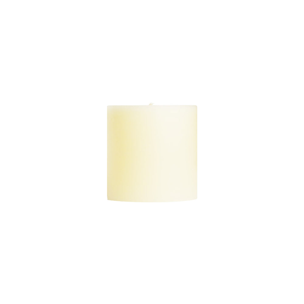 "3x3"" Shell White Unscented Pillar Candle - Unscented Pillar Candle - Dripless Pillar Candles - Mole Hollow Candles"