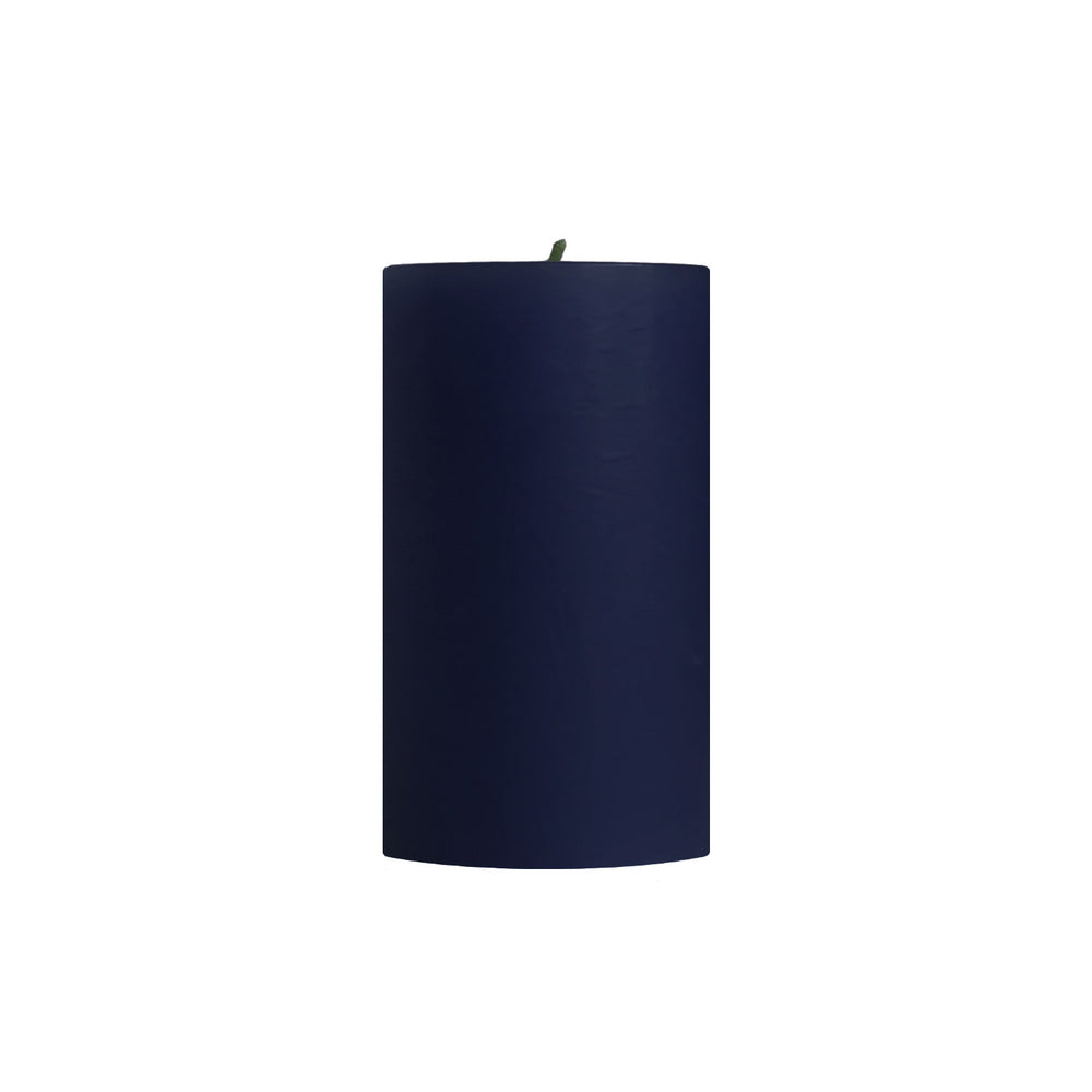 "3x6"" Blueberry Scented Pillar Candle - Dripless Pillar Candles - Mole Hollow Candles"