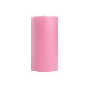 "3x6"" Pink Unscented Pillar Candle - Dripless Pillar Candles - Mole Hollow Candles"