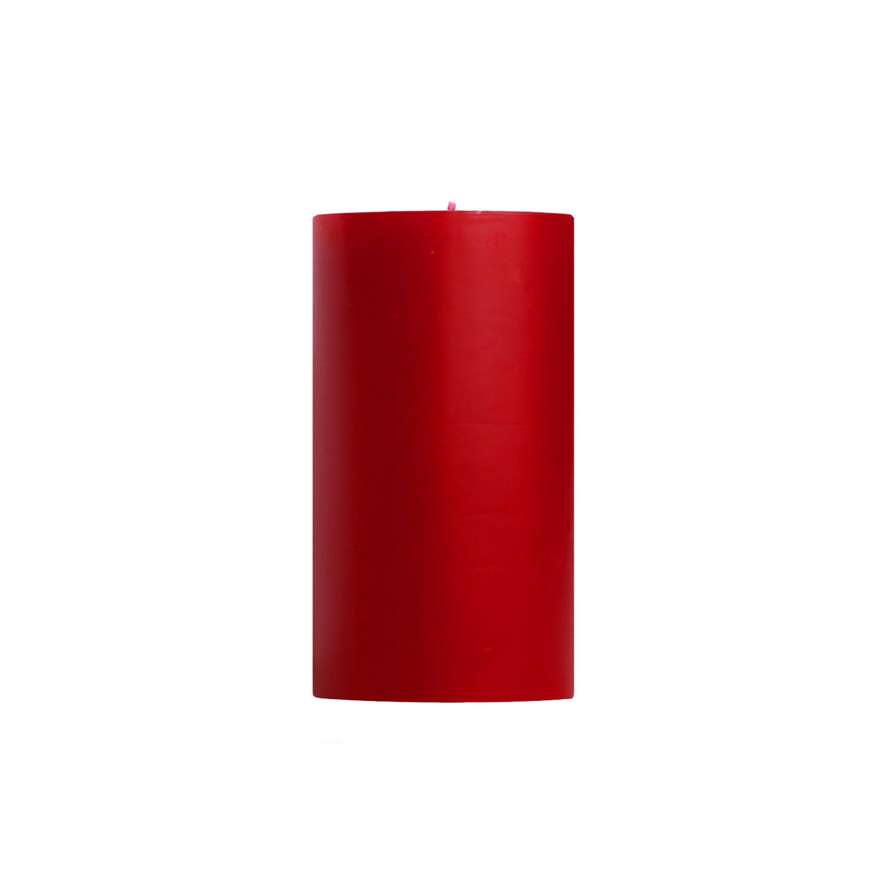 "3x6"" Hollyberry Scented Pillar Candle - Dripless Pillar Candles - Mole Hollow Candles"