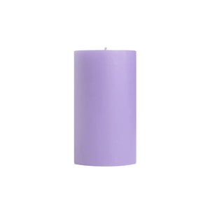 "3x6"" Lavender Scented Pillar Candle - Dripless Pillar Candles - Mole Hollow Candles"