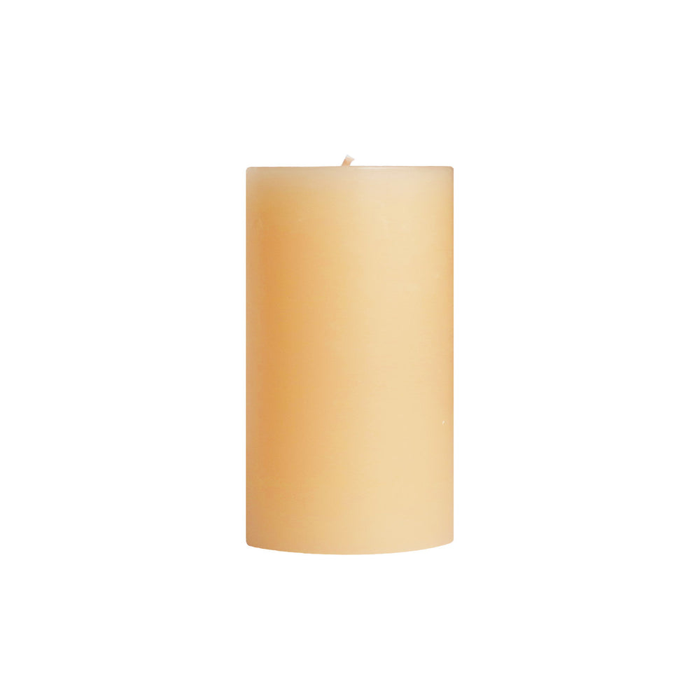 "3x6"" Sandalwood Scented Pillar Candle - Dripless Pillar Candles - Mole Hollow Candles"