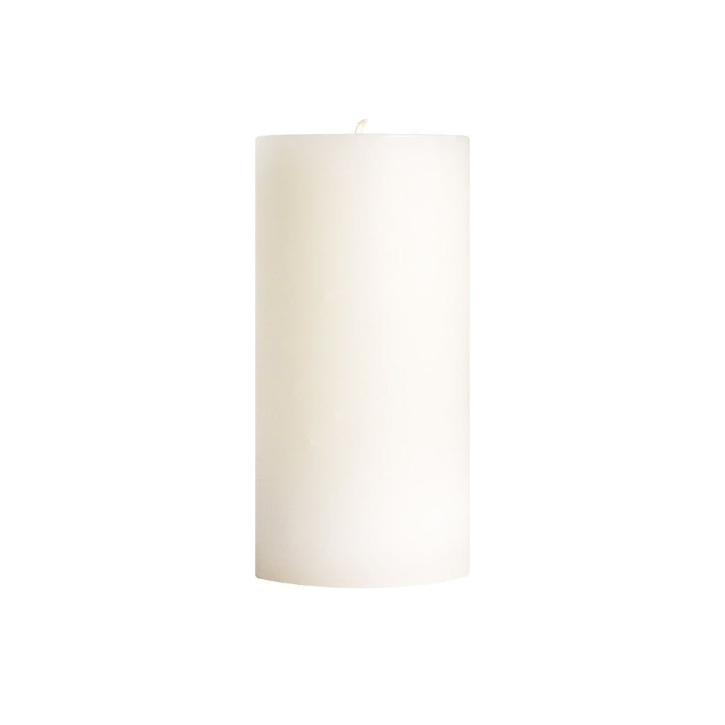 "3x6"" Unscented White Pillar Candle - Dripless Pillar Candles - Mole Hollow Candles"