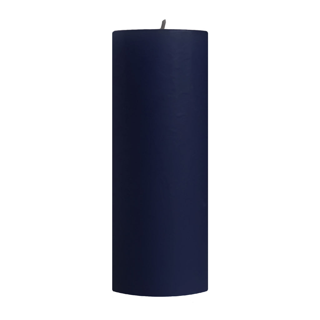 "3x9"" Blueberry Scented Pillar Candle - Dripless Pillar Candles - Mole Hollow Candles"