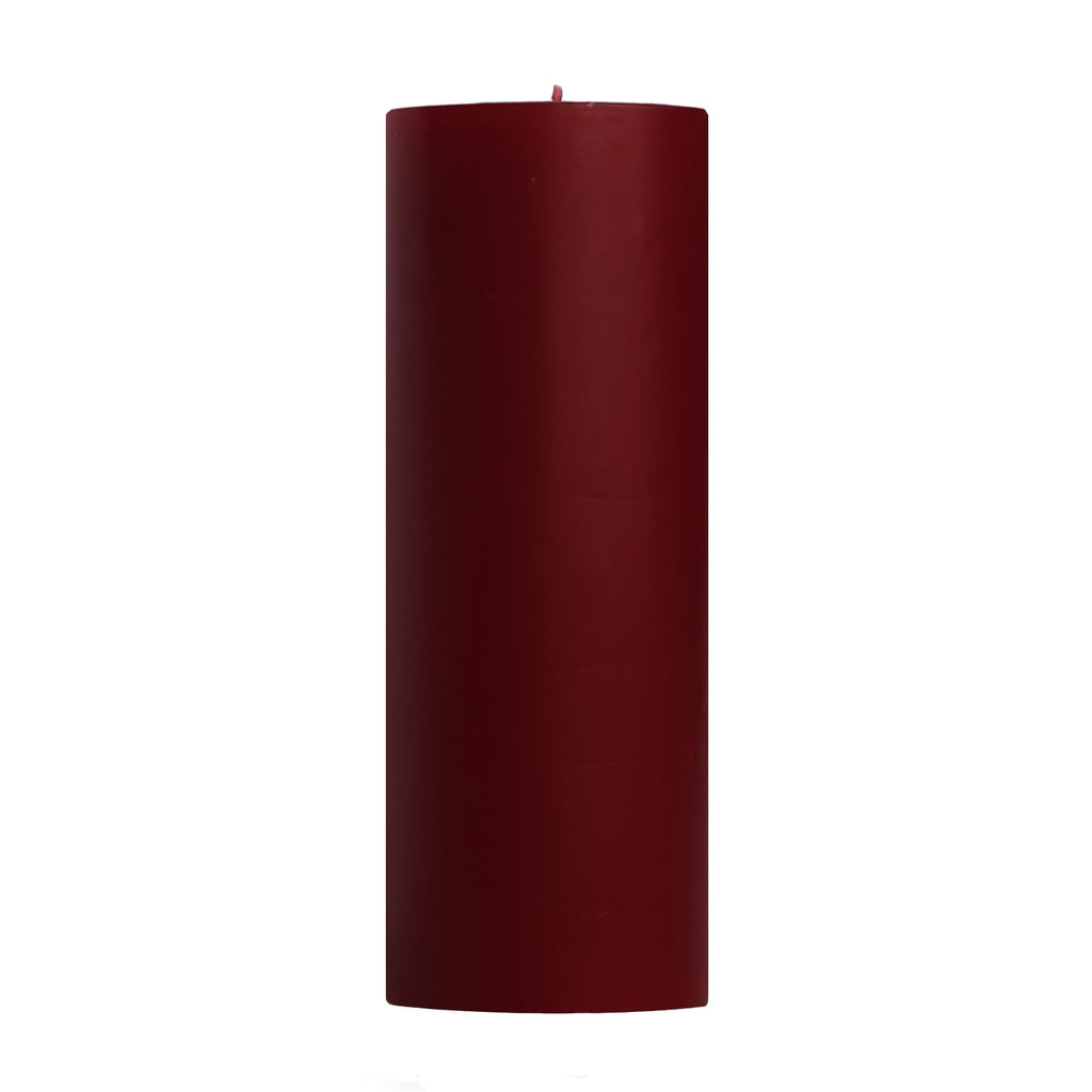 "3x9"" Cape Cod Cranberry Scented Pillar Candle - Dripless Pillar Candles - Mole Hollow Candles"