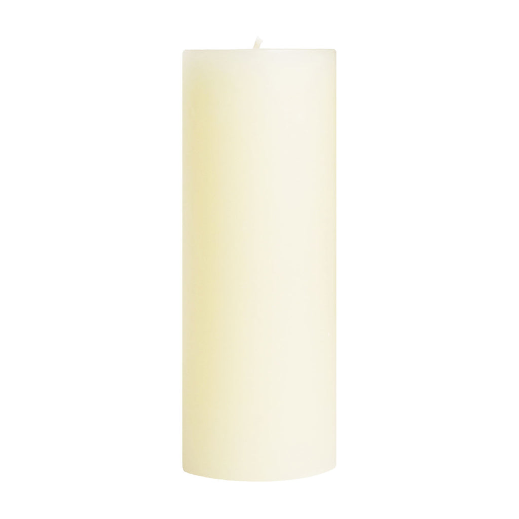 "3x9"" French Vanilla Scented Pillar Candle - Dripless Pillar Candles - Mole Hollow Candles"