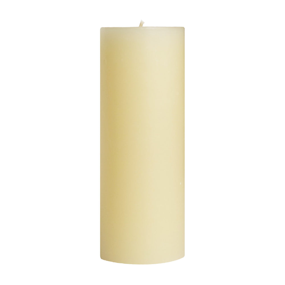 "3x9"" Off White Unscented Pillar Candle - Dripless Pillar Candles -Mole Hollow Candles"
