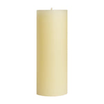 "3x9"" Unscented Pillar Candles"