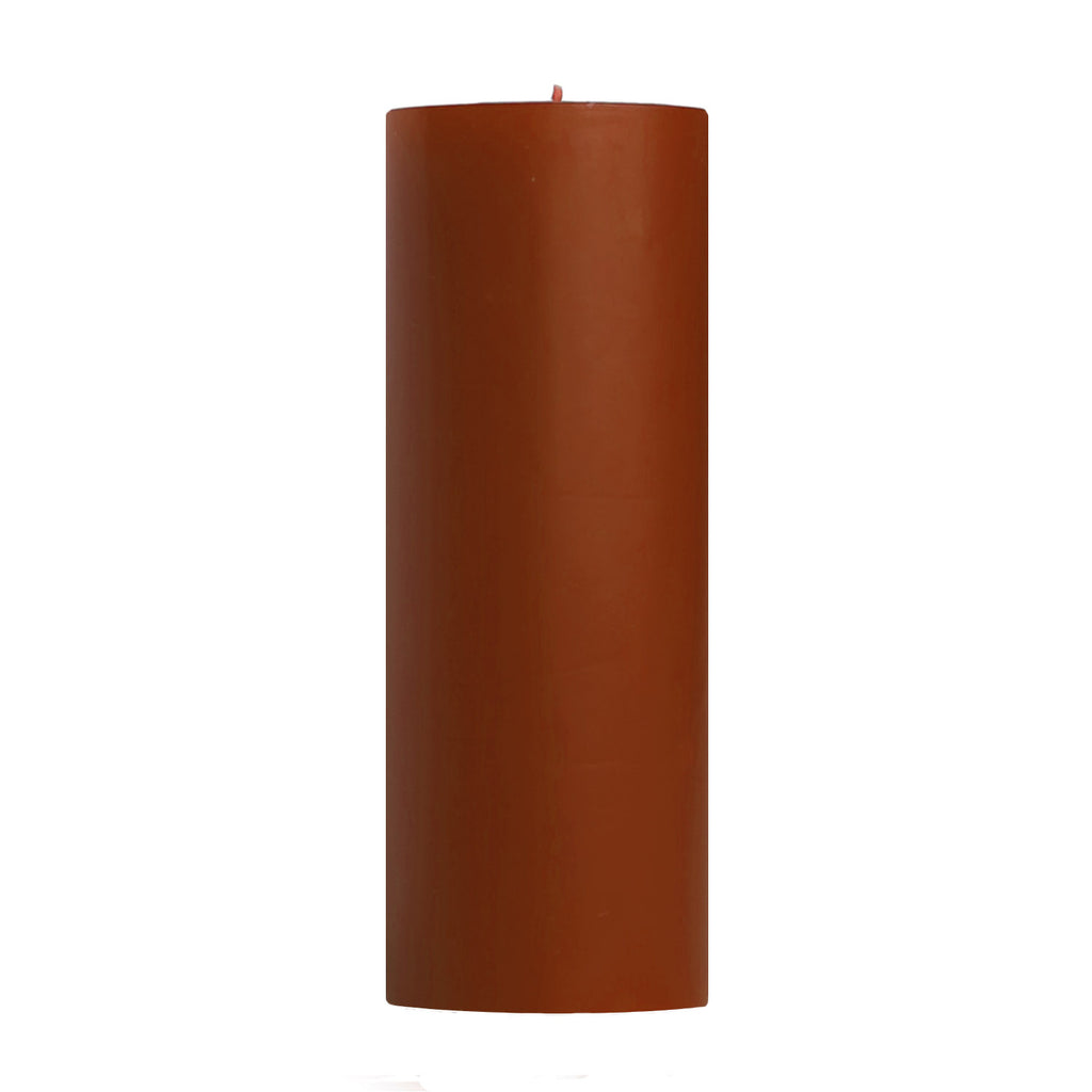 "3x9"" Unscented Pumpkin Pillar Candle - Mole Hollow Candles Dripless Pillar Candles"