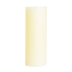 "3x9"" Shell White Unscented Pillar Candle - Dripless Pillar Candles - Mole Hollow Candles"