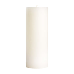 "3x9"" Unscented White Pillar Candle - Dripless Pillar Candles - Mole Hollow Candles"