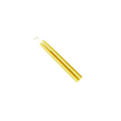 "Beeswax Tiny Tapers 6"" - Dripless Tapers - Mole Hollow Candles"