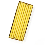 "10"" Beeswax Tiny Taper Candles, Set of 24"