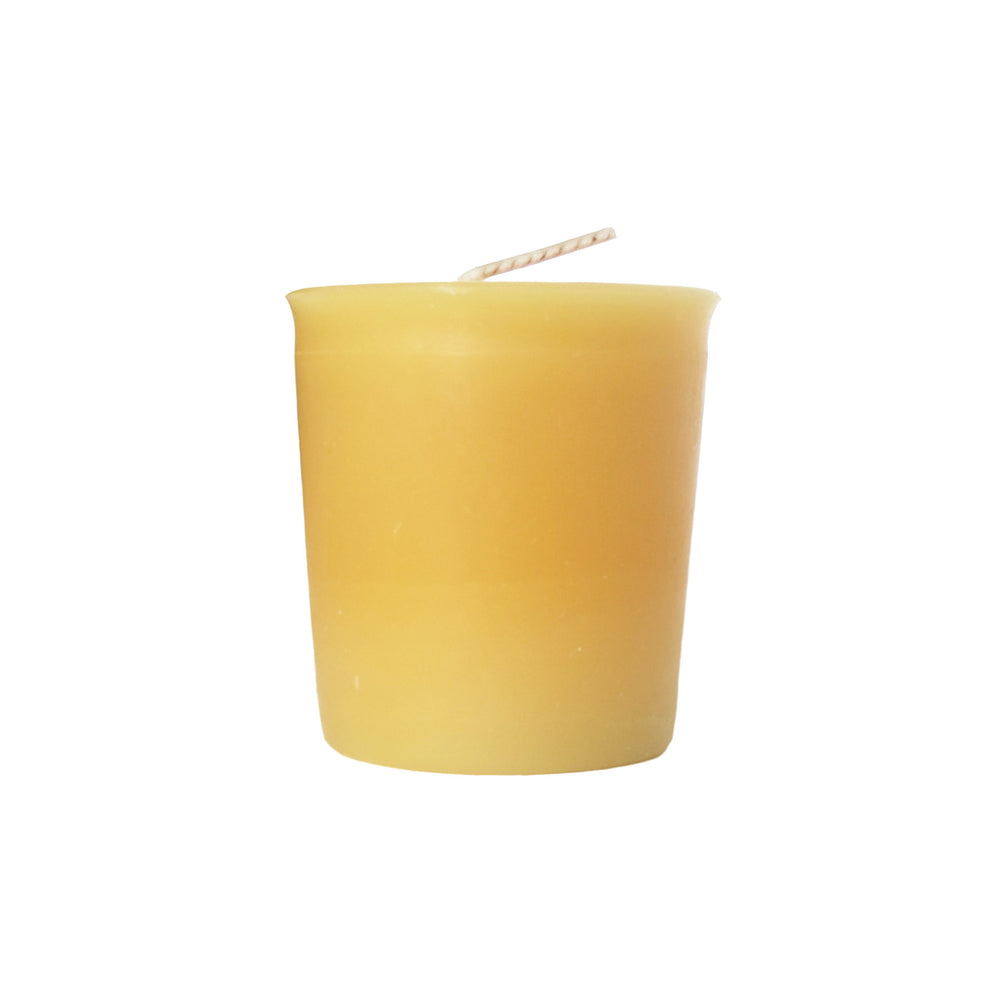 Load image into Gallery viewer, Natural Beeswax Votive - Beeswax Candle -  Mole Hollow Candles