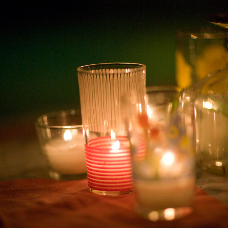 Beeswax Votives Outdoors - Beeswax Votive Candles - Mole Hollow Candles