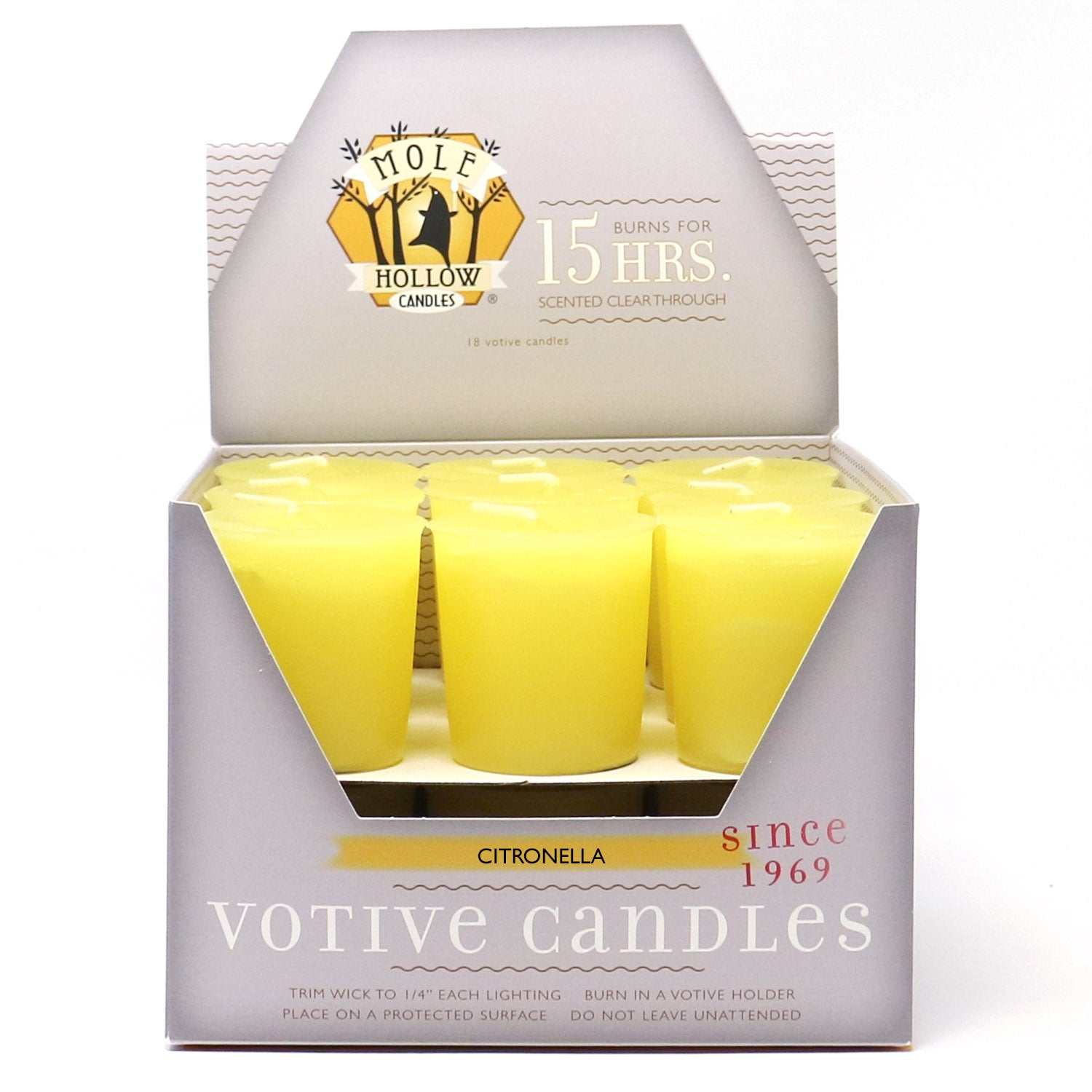 Citronella Votive Candles - Citronella Scented Candle - Mole Hollow Candles