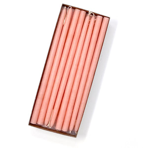 "10"" Creamy Peach Tiny Taper Candles - Mole Hollow Candles"
