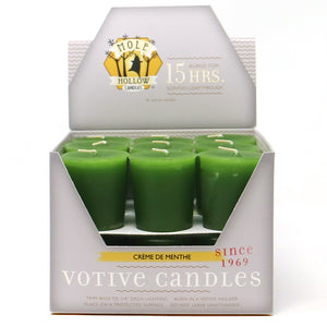 Creme de Menthe Scented Votive Candle - Dark Green Candle - Mole Hollow Candles