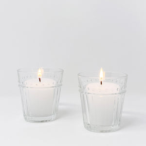 Dotted Glass Votive Holders, Set of 2