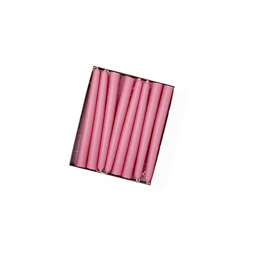 "4.5"" Dusty Rose Tiny Taper Candles - Mole Hollow Candles"