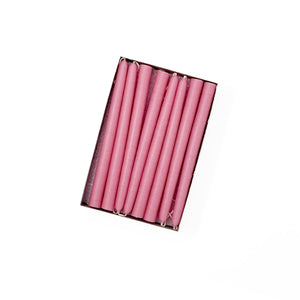 "6"" Dusty Rose Tiny Taper Candles - Mole Hollow Candles"