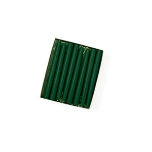 "4.5"" Emerald Green Tiny Taper Candles - Mole Hollow Candles"