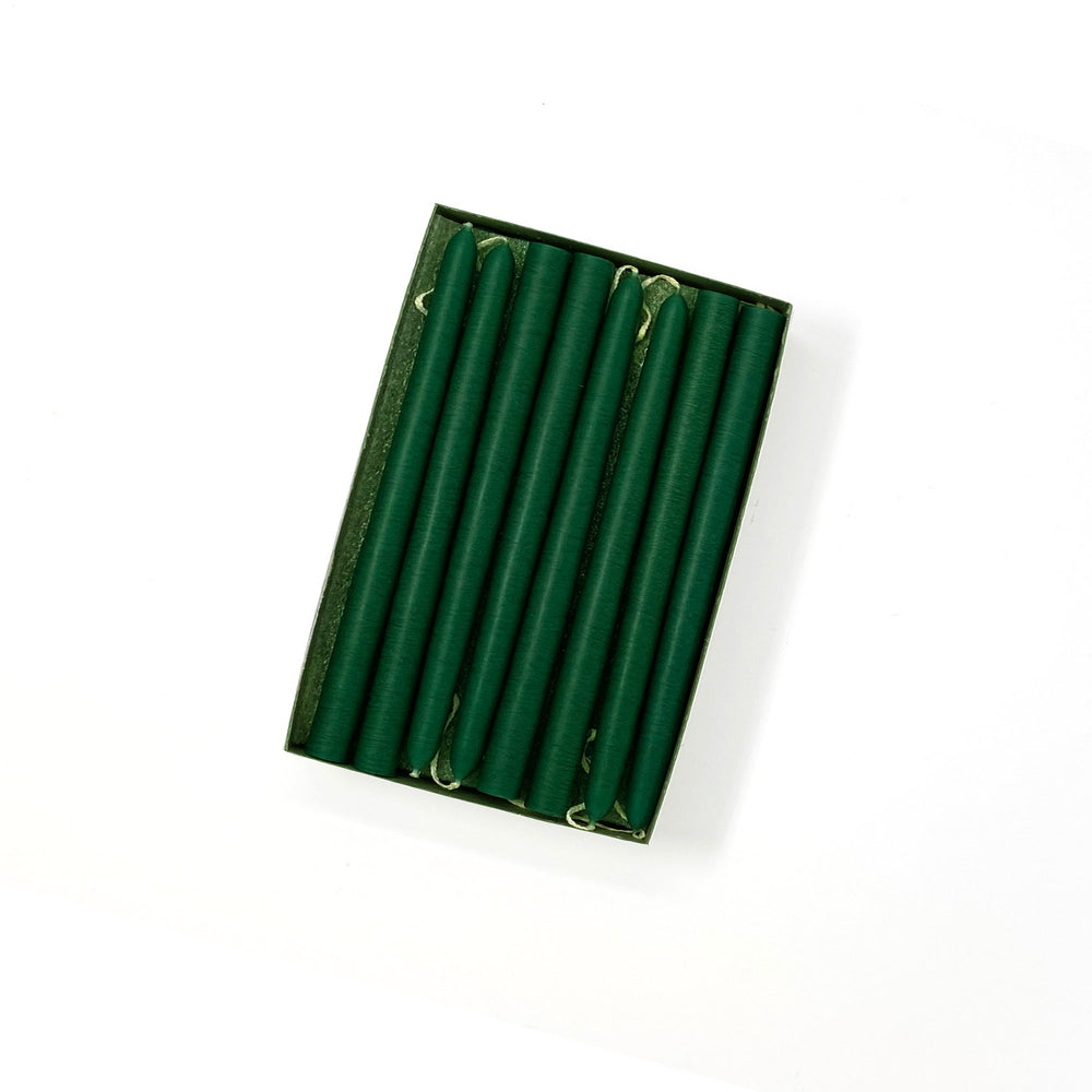 "6"" Emerald Green Tiny Taper Candles - Mole Hollow Candles"