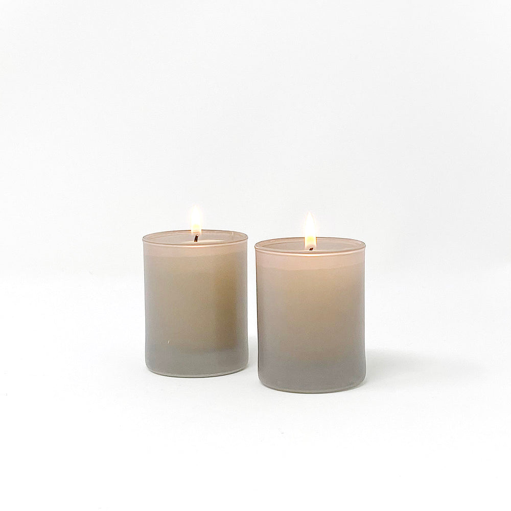 Smoke Glass Votive Holders, Set of 2