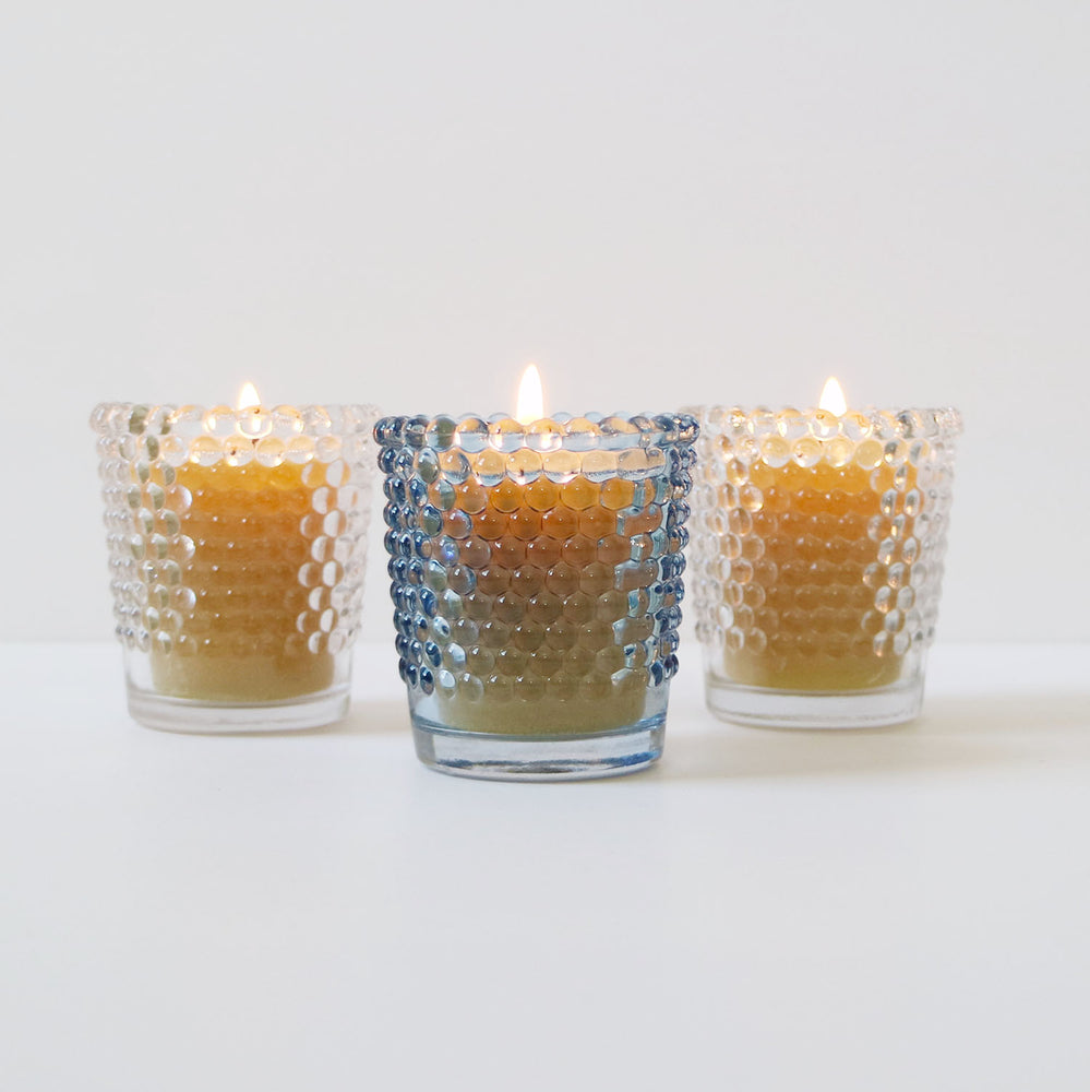 Hobnail Votive Candle Holder Set