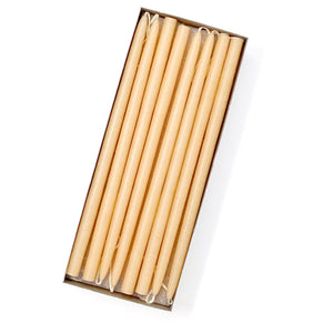 "10"" Ivory Tiny Taper Candles - Mole Hollow Candles"