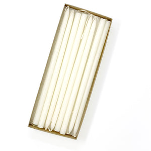 "NEW! 10"" Ivory Beeswax Tiny Taper Candles, Set of 24"