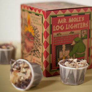 Mr. Mole's Log Lighters Recycled Fire Starters - Mole Hollow Candles